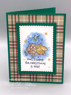 Three Cute & Easy Christmas Cards using the Have a Hoot Stamp Set.  Click here to learn more!