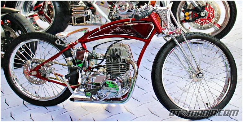 The Unusual Custom Touches On Honda Supra Fit Moped