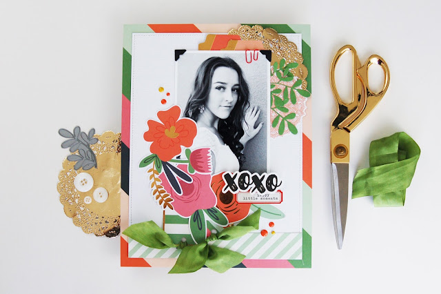 Memories Made #56: XOXO Scrapbooking Process Video by Jen Gallacher. Video included. #scrapbooking