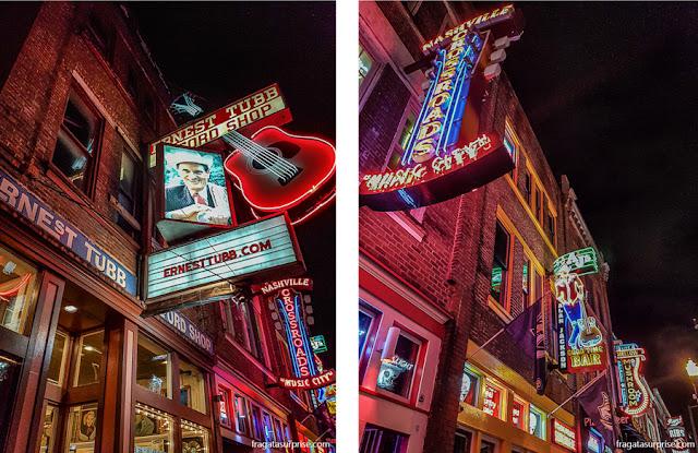 Honky tonks em Nashville