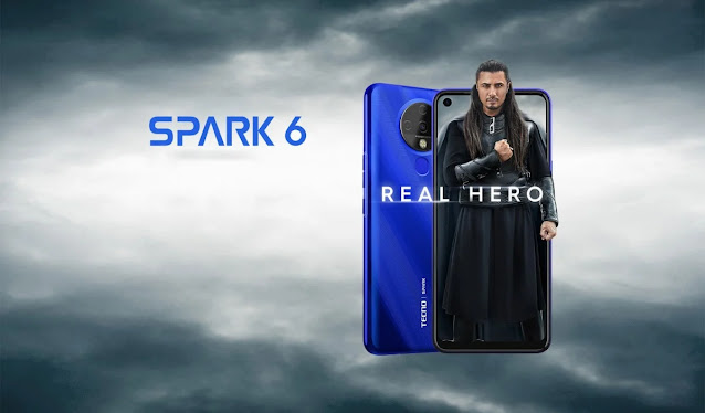 Tecno Spark 6 packing a 6.8-inch display, Helio G70 launched in Pakistan