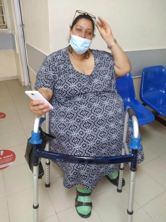 Primera Dama Raquel Arbaje niega ayuda a mujer con sobrepeso