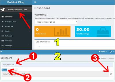 cara memperpendek link dengan safelinkblog