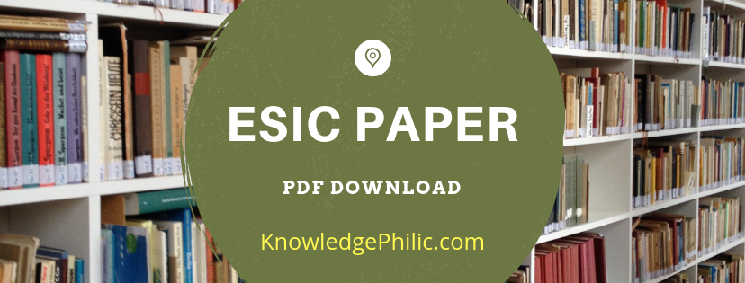 ESIC Previous Papers | ESIC Questions Paper | Mock Paper PDF