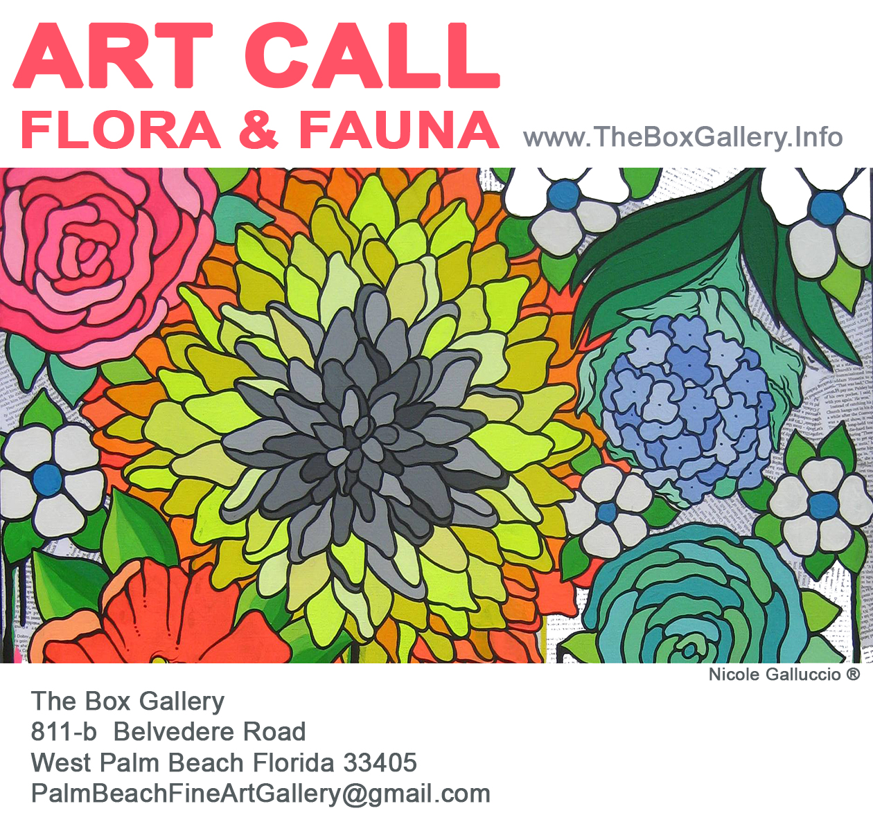Box Gallery Art Call Flora And Fauna At The Box Gallery