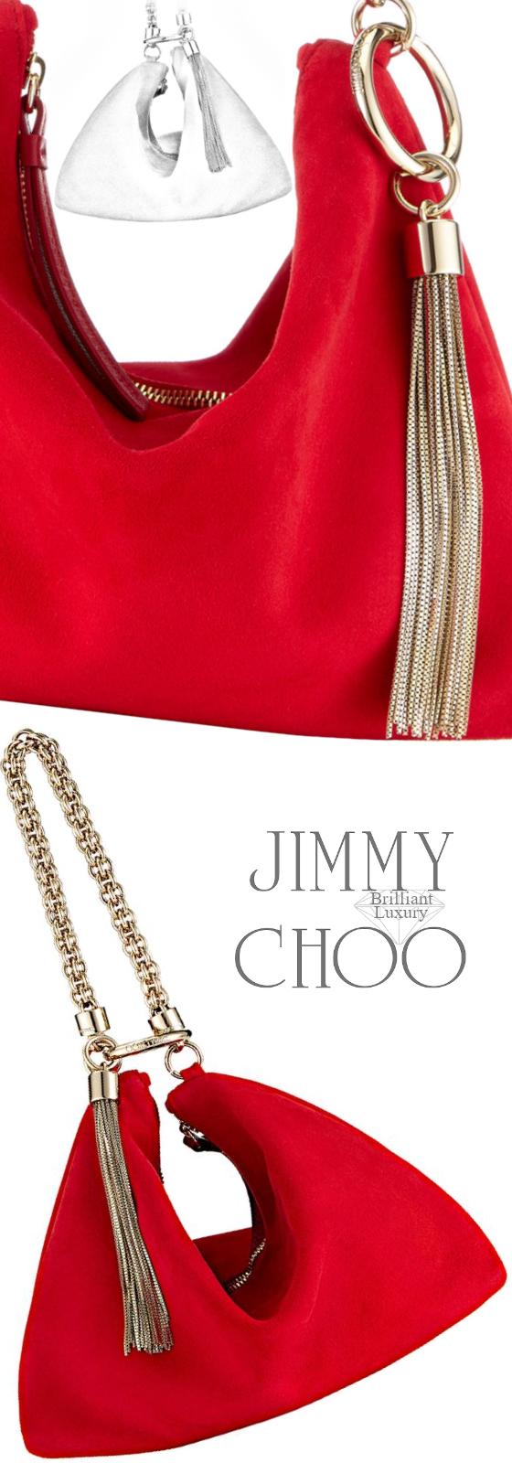 Jimmy Choo Red Callie Bag #brilliantluxury
