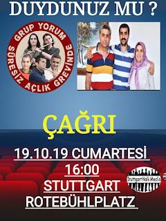 Stuttgard Halk Meclisi Grup Yorum Mustafa Koçak