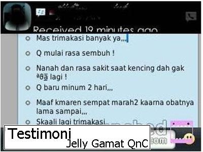 Hasil gambar untuk Testimoni Pengguna QnC Jelly Gamat untuk gonore