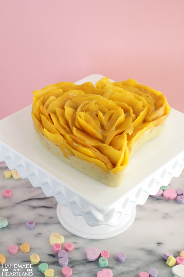 Valentine Heart Mango Cream Tart Recipe