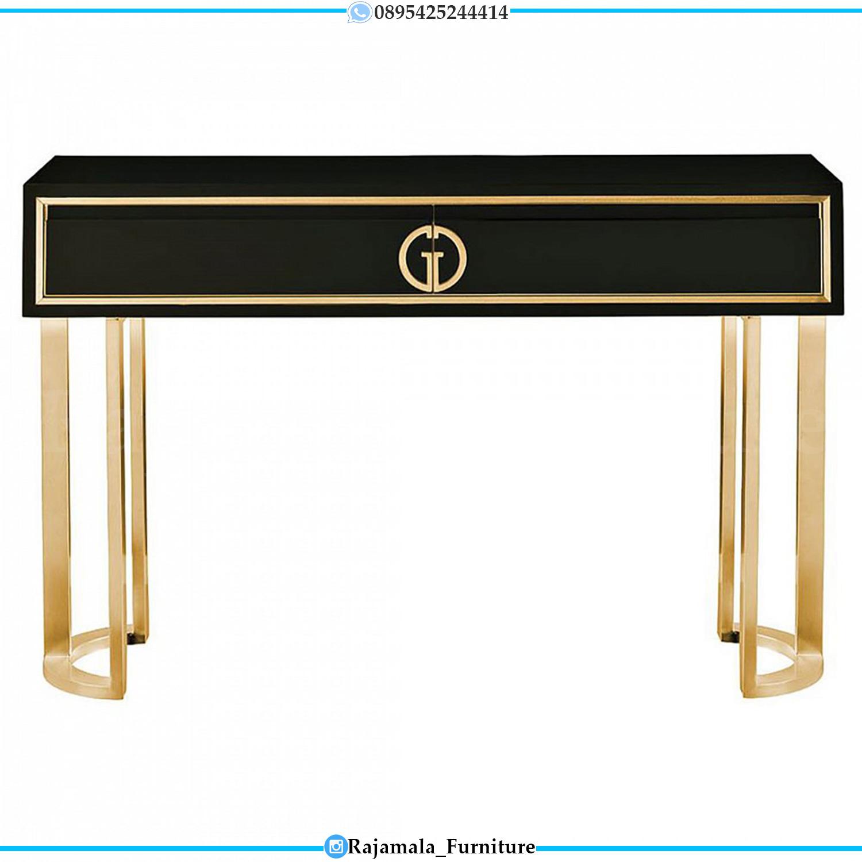 Harga Meja Konsul Minimalis Jepara Desain Luxury Stainless Steel Terbaru RM-0288