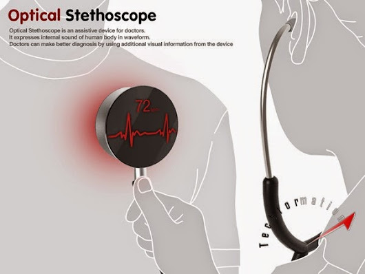 Techformation: Stethoscope with a digital screen