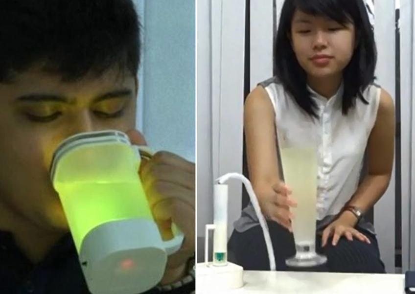 A research team in Singapore's Keio-NUS CUTE (Connective Ubiquitous Technology for Ebodiments) centre said they have devised a way to make water taste like lemonade.