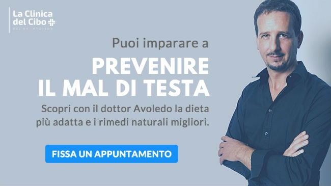 Il trattamento nutrizionale del dottor Luca Avoledo per cefalee ed emicranie