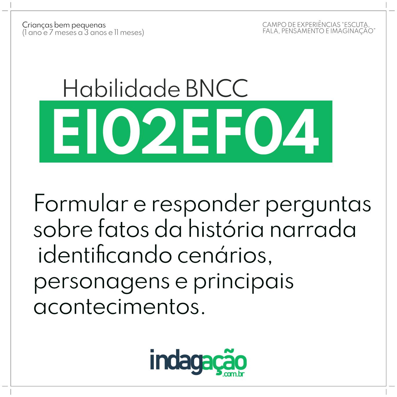 Habilidade EI02EF04 BNCC