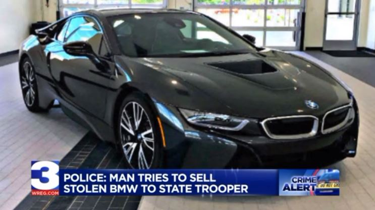 Just A Car Guy: A $90,000 BMW, a 2016 I8, for sale on