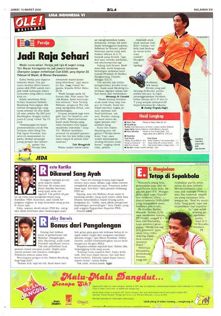 LIGA INDONESIA VI: PERSIJA JADI RAJA SEHARI