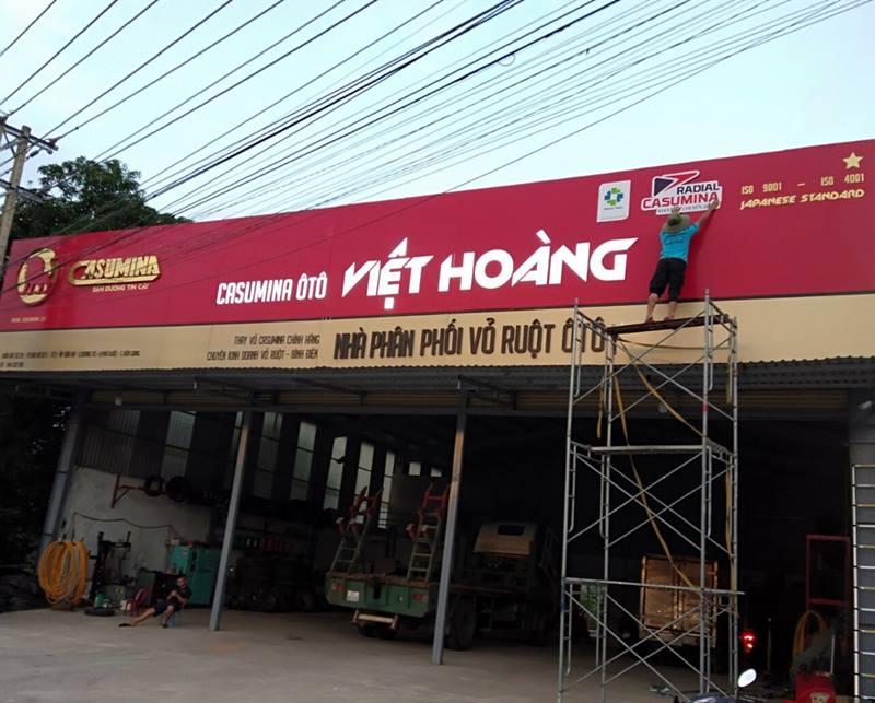 Thi công Bảng hiệu đẹp cho Casumina ô tô Việt Hoàng Phú Quốc