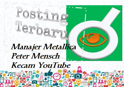 Ilustrasi Manajer Metallica Peter Mensch Kecam YouTube - Dipopedia