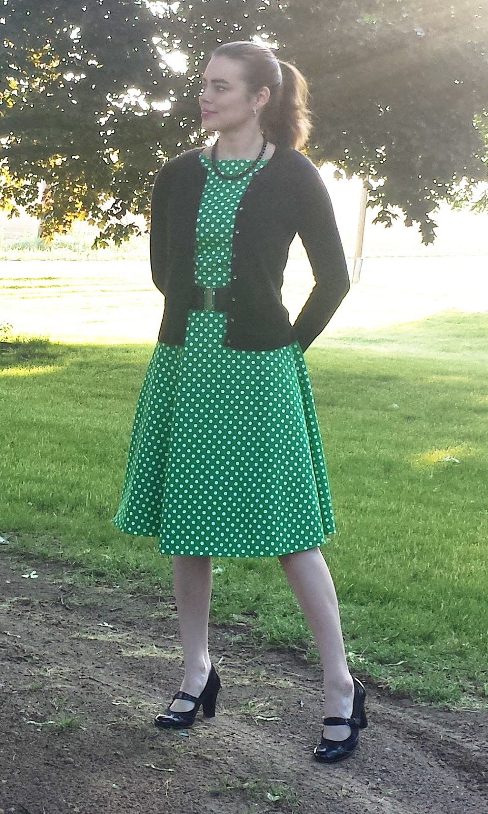 602ab1f34d Sew Francie  Green Polka Dot Dress