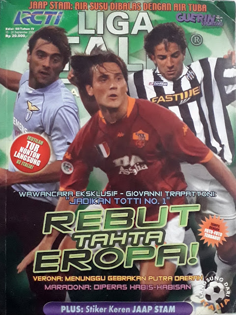 DEL PIERO CLAUDIO LOPEZ MONTELLA ON FOOTBALL MAGAZINE COVER