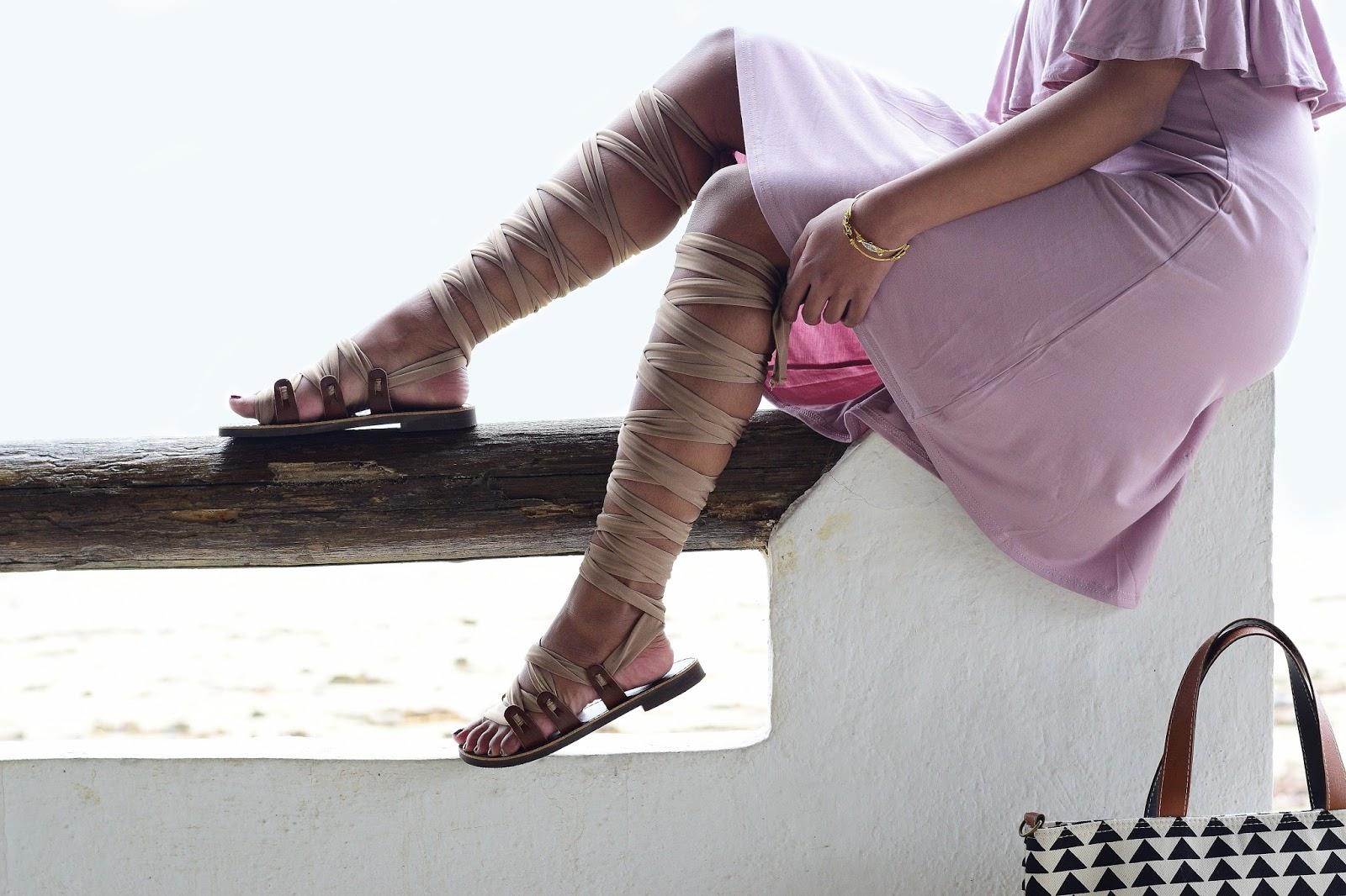 handmade gladiator sandals from greece