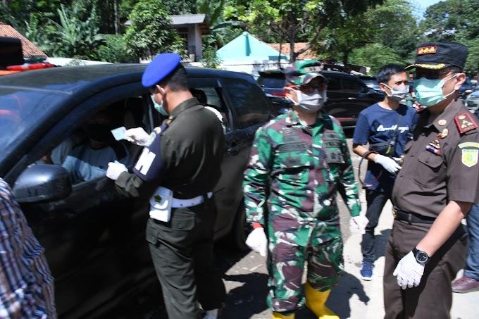 Jajaran Forkopimda Cianjur Terus Batasi Penyebaran COVID-19, Perbatasan Bogor pun Disemprot Disinfektan