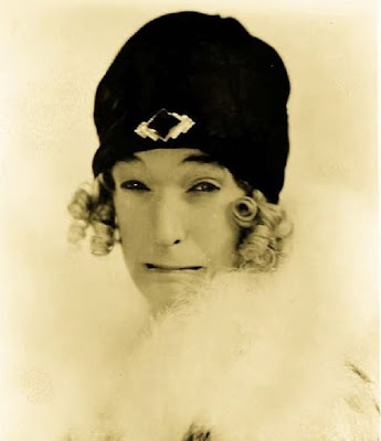 Stan Laurel in drag
