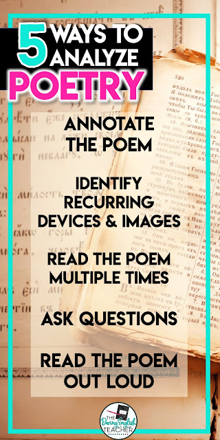 5 Ways to Analyze Poetry in the Secondary ELA Classroom