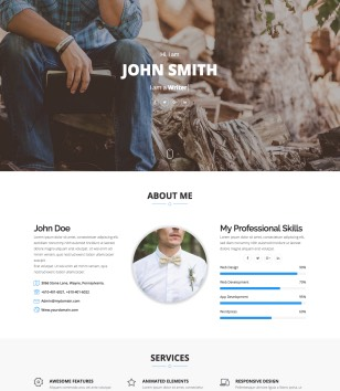 Storm One Page Blogger Template