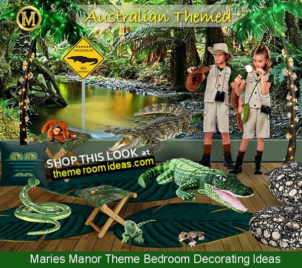 crikey crocodile bedroom decor tropical queensland australia decorating