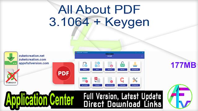 All About PDF 3.1064 + Keygen