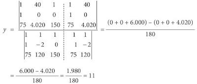 Nilai variabel y metode matriks