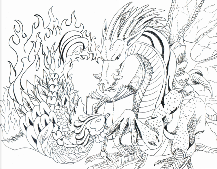 lit coloring pages Lunanshee's Lunacy: 10 Coloring Pages Inspired by YA Lit lit coloring pages