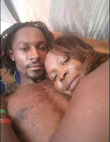 servicing - Kenyan BEN 10 splashes steamy PHOTOs with his sugar-mummy- He was licking the aging woman like a lollipop.