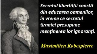 Citatul zilei: 6 mai - Maximilien Robespierre