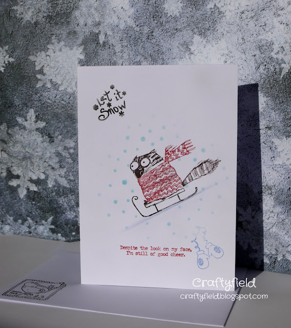 Simple stamping in colour with Snarky cats