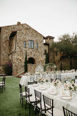 reception setup at bella collina