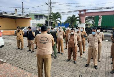Kades Segara Makmur Pimpin Apel Siaga Gabungan Satgas Covid-19, Ini Pesan H.Agus Sopiyan