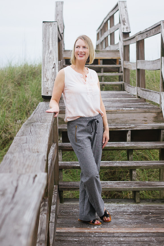 Seaforth Pants and Biscayne Blouse by Hey June