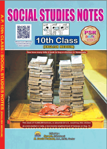10th Class new syllabus Social Studies Notebook English Medium and Telugu Medium