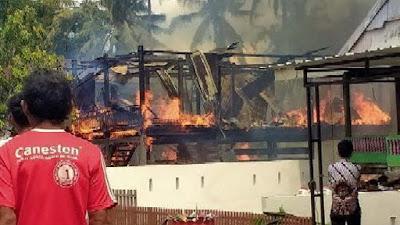 Kebakaran di Bone Kembali Hanguskan 2 Rumah Warga