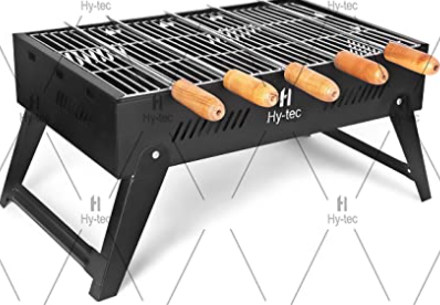 Foldable Barbeque with 5 Skewers 1 Grill