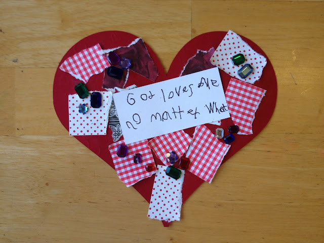 paper heart craft for kids