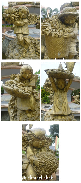 Indigenous angels of Christ the King Cathedral in Tagum, Davao del Norte