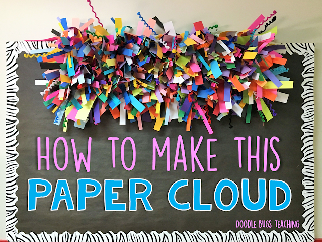 Doodle bugs teaching first grade rocks five for friday for How to make a paper cloud