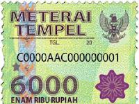 Tata Cara Penggunaan Meterai Sehubungan Pemberlakuan Undang-Undang Bea Meterai Yang Baru Rp. 10.000