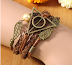 Multilayer Braided Leather Triangle Owl Wings   Cuff Bracelets for Women Men Unise