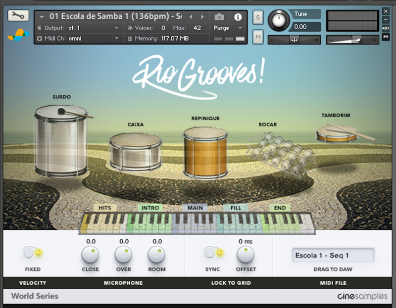 Cinesamples - Rio Grooves KONTAKT Library