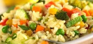 طبق أرز بالخضار