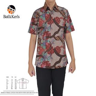 batik keris pria lengan pendek